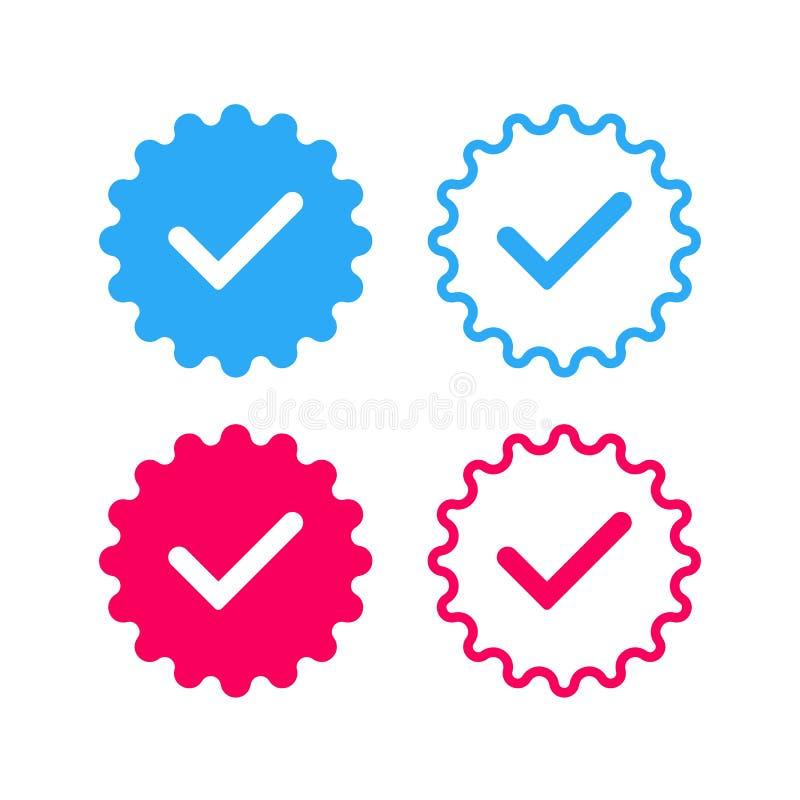 Copie Social-networks-verified-badges-2 illustration libre de droits