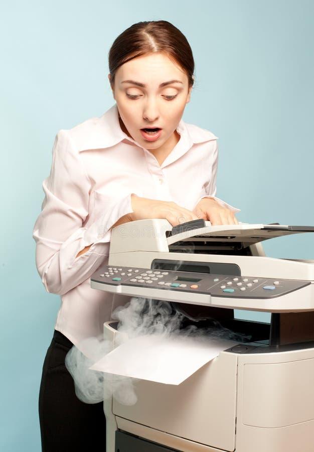 copier dymienia zdziwiona kobieta zdjęcia royalty free