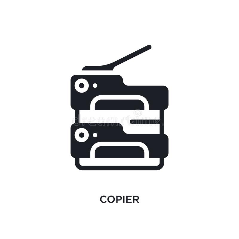 Copier isolated icon. simple element illustration from electronic devices concept icons. copier editable logo sign symbol design. On white background. can be vector illustration