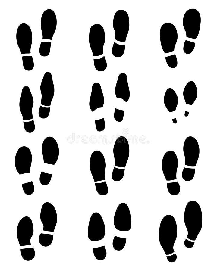 copies de chaussure illustration de vecteur