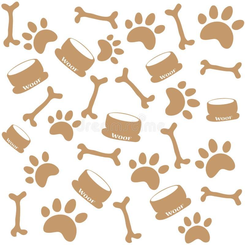 Copies de patte de chien illustration libre de droits