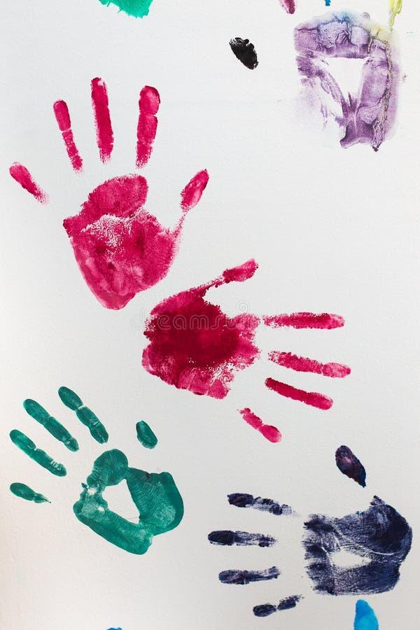 Copies des mains de l'enfant images stock