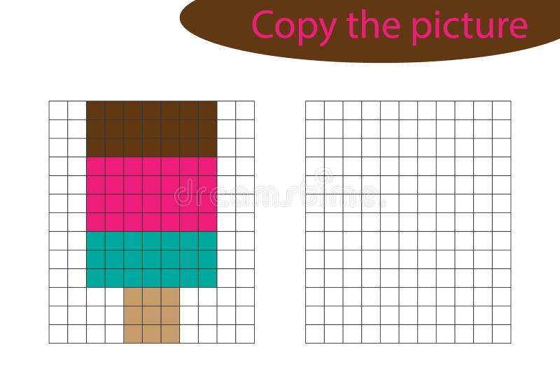 Copiez Limage Art De Pixel Bande Dessinée De Crème Glacée