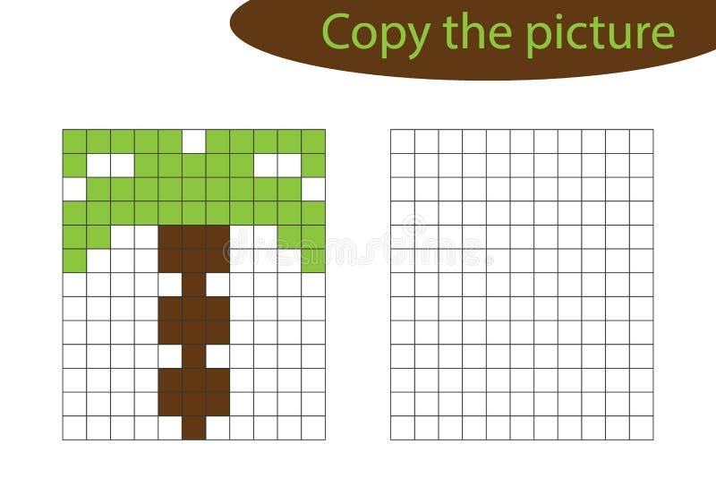 Copiez Limage Art De Pixel Bande Dessinée De Palmier La