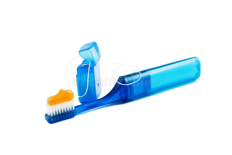 copiez la brosse à dents de l'espace de soie photo libre de droits