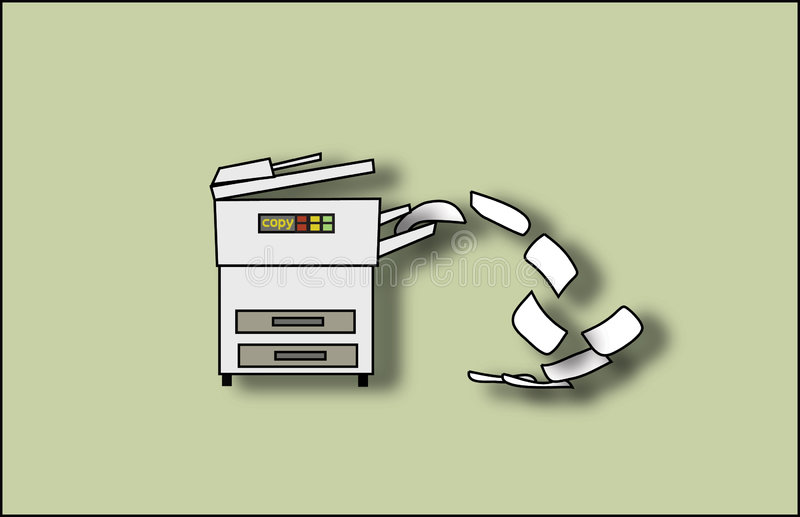 Copiez la machine illustration libre de droits