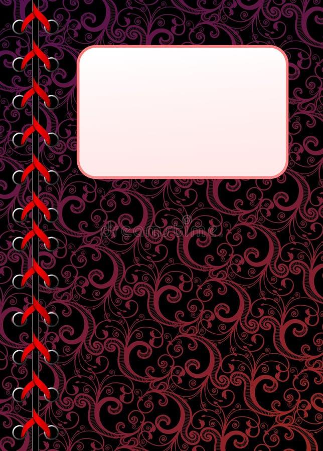 copiez le papier peint lacé floral de vecteur d'espace illustration libre de droits