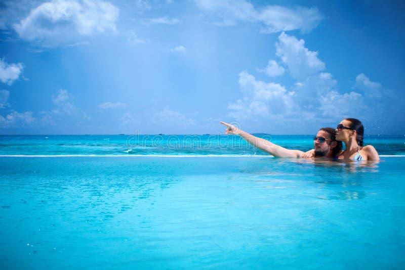 Copile ai Maldives immagine stock