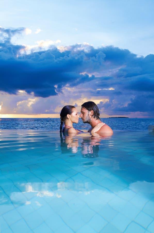 Copile em Maldives fotos de stock