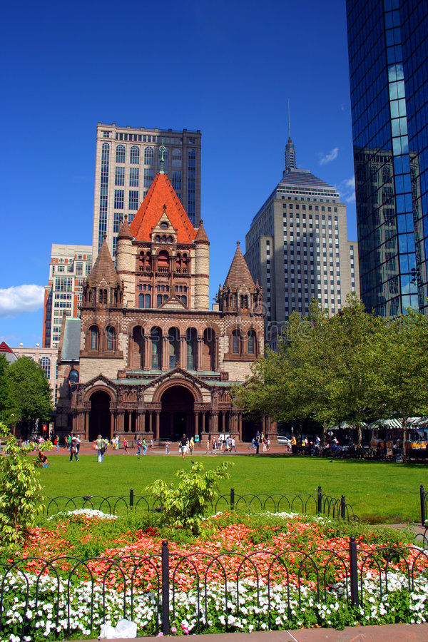 Copley Square, Boston stock image