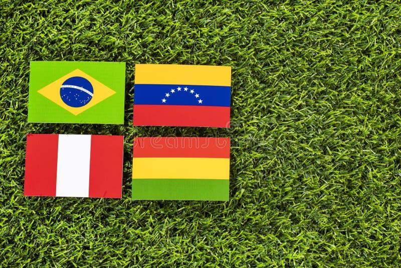 - Copo americano do futebol - grupo sul A Espa?o do texto ilustração do vetor