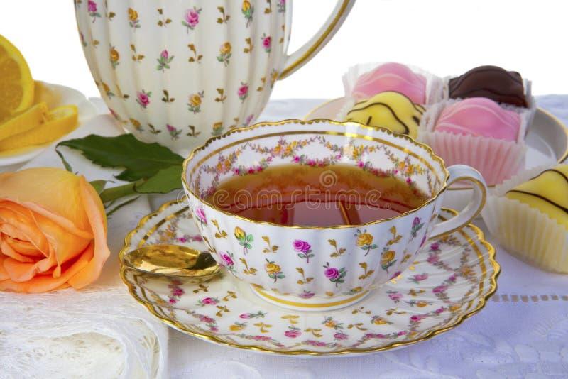 Copo do chá. foto de stock
