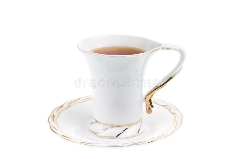 Copo branco do chá quente imagem de stock