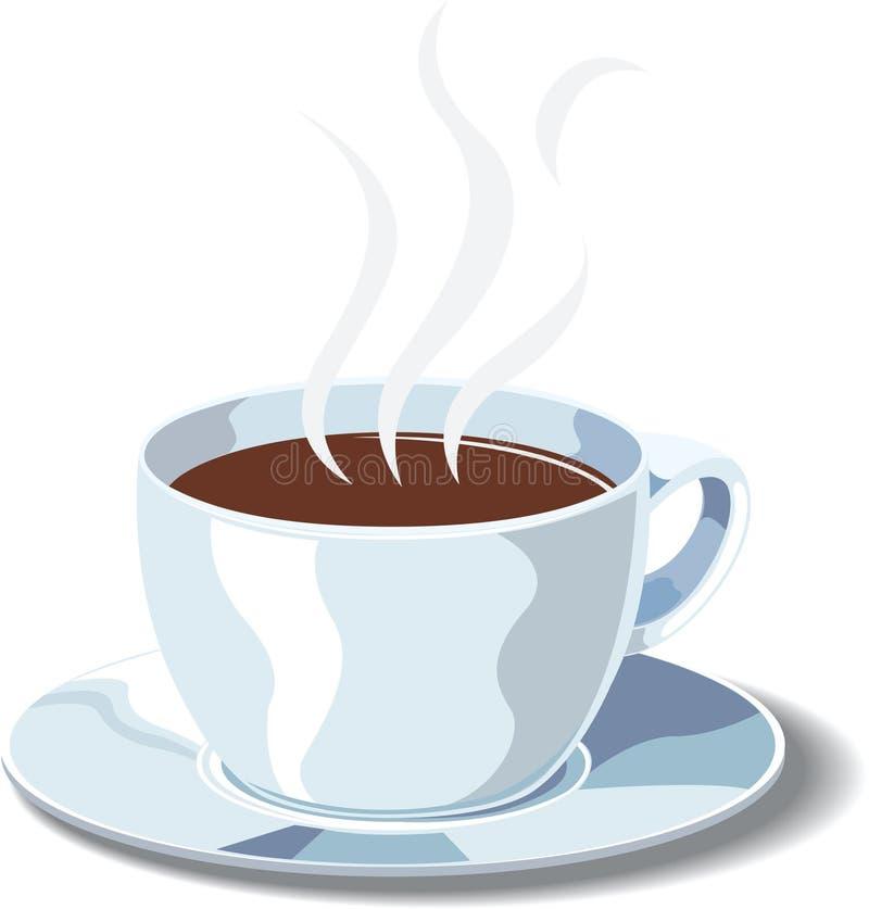 Download Copo branco do cofee ilustração do vetor. Ilustração de preto - 10060468