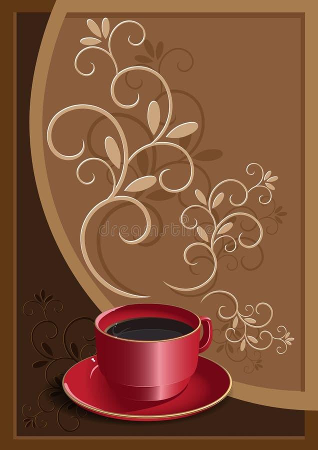 Copo com café ilustração do vetor