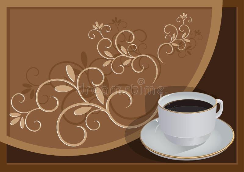 Copo com café ilustração stock