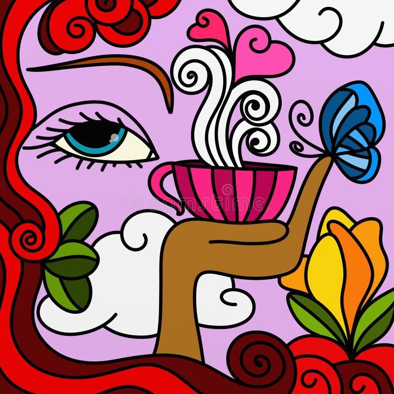 Copo cor-de-rosa ilustração do vetor