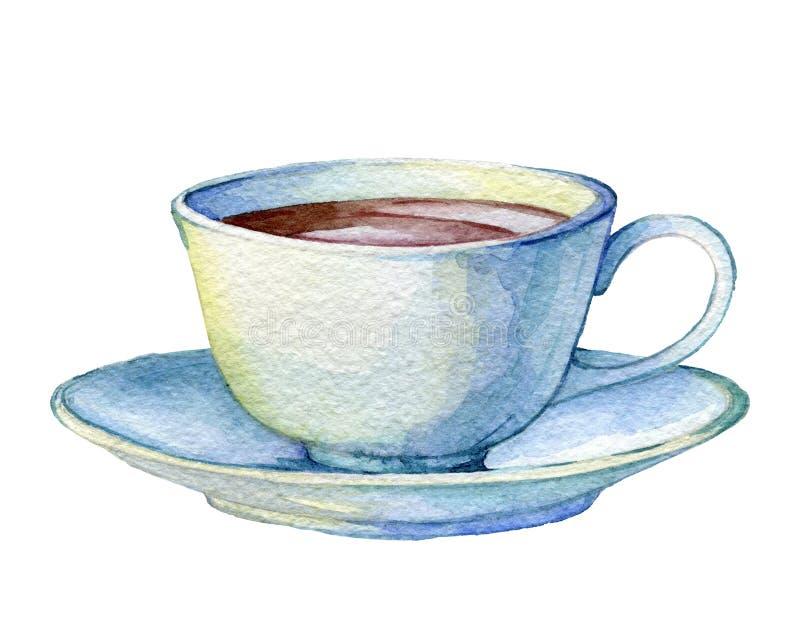 Copo da porcelana do vintage ilustração royalty free