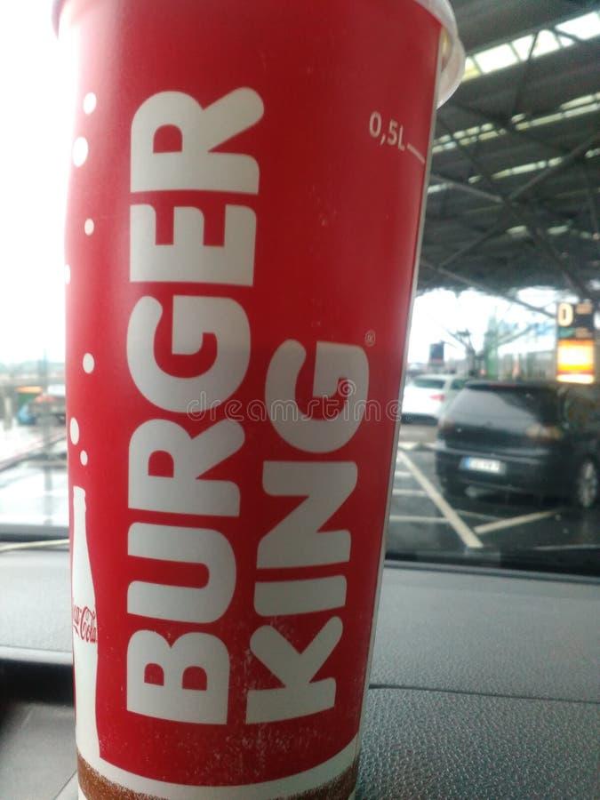 Copo de Burger King imagem de stock