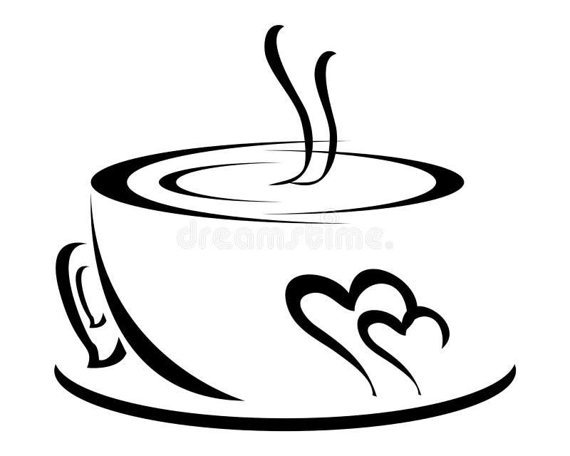 Copo de café branco ilustração stock