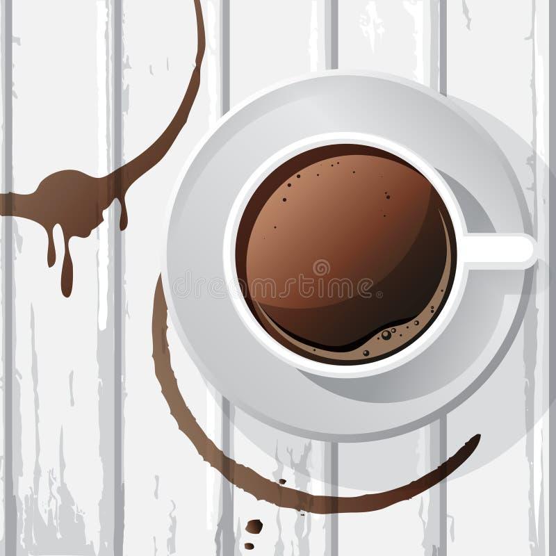Copo de café branco ilustração do vetor