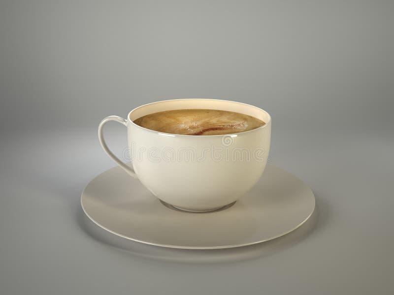 Copo de café branco foto de stock royalty free