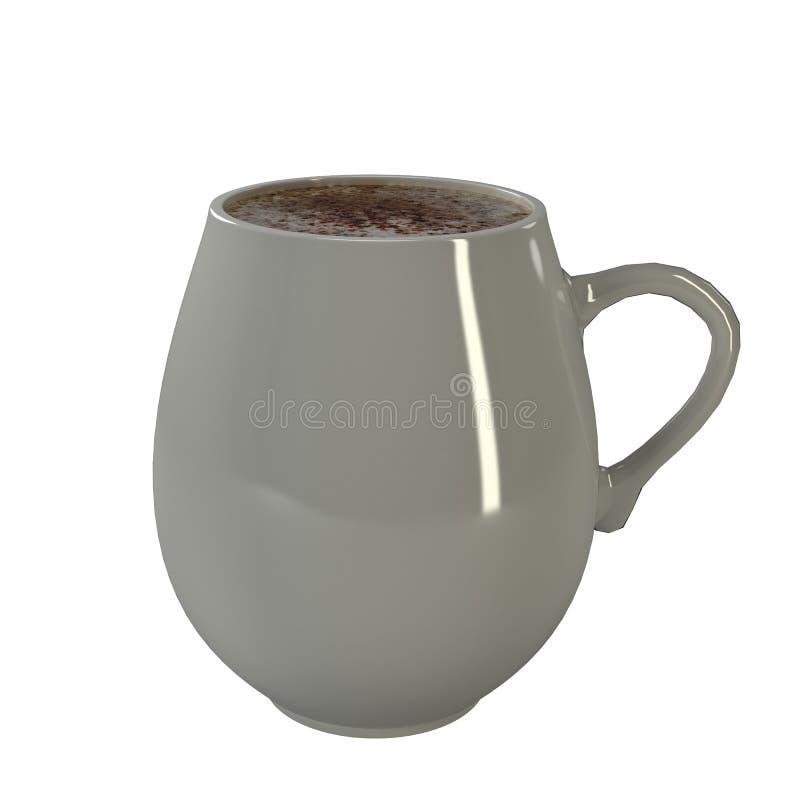 Copo de café branco fotografia de stock royalty free