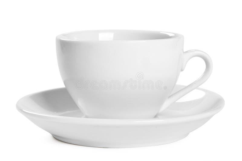 Copo de café branco pequeno fotos de stock royalty free