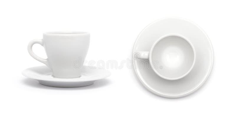 Copo de café branco pequeno foto de stock