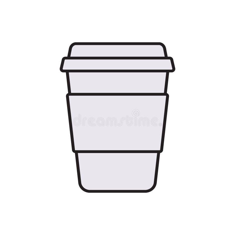 Copo de café branco Proteção do negócio da conformidade e regul legais dos direitos reservados ilustração stock