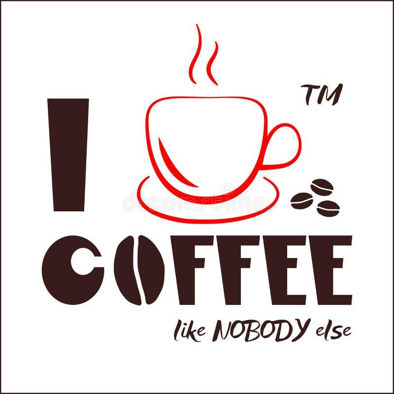 Copo de café com citações ilustração do vetor