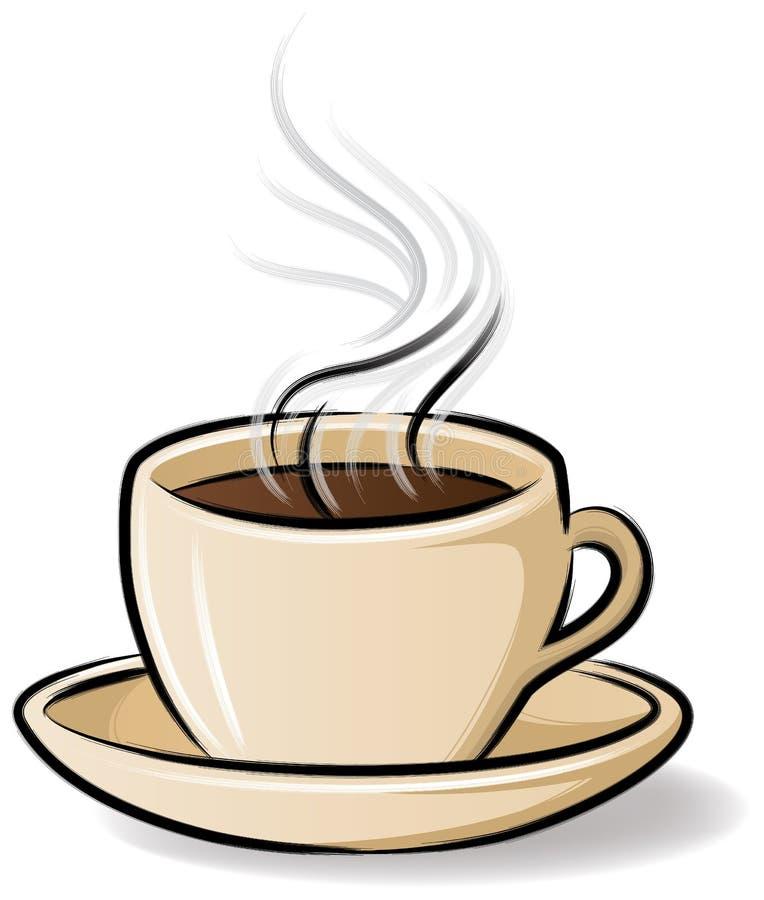 Copo de café com vapor ilustração royalty free