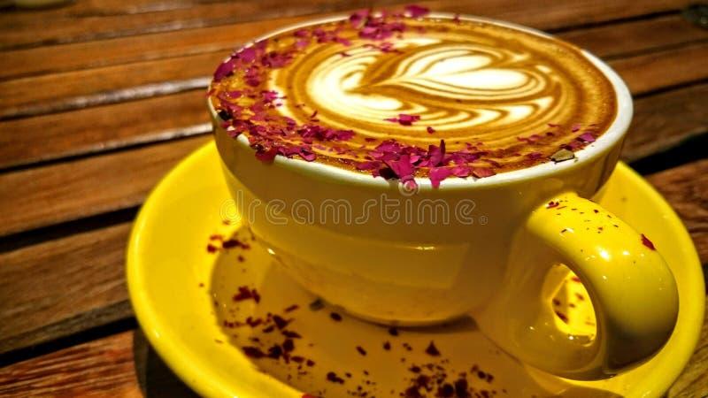 Copo de café de Coraggio fotografia de stock