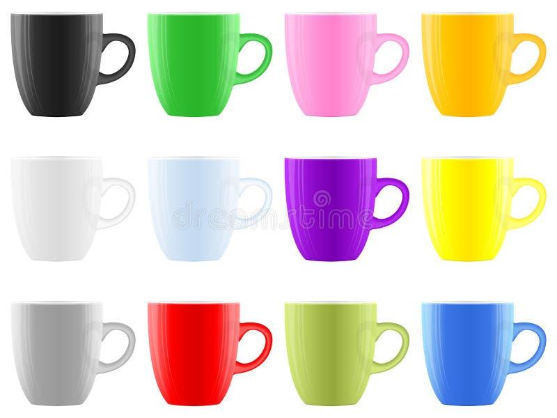 Copo de café da cor ilustração stock