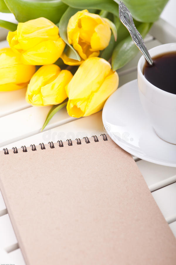 Copo de café da manhã imagem de stock royalty free