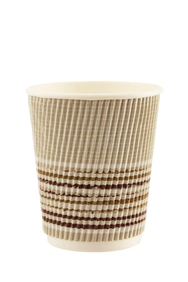 Copo de café de papel isolado no fundo branco foto de stock royalty free
