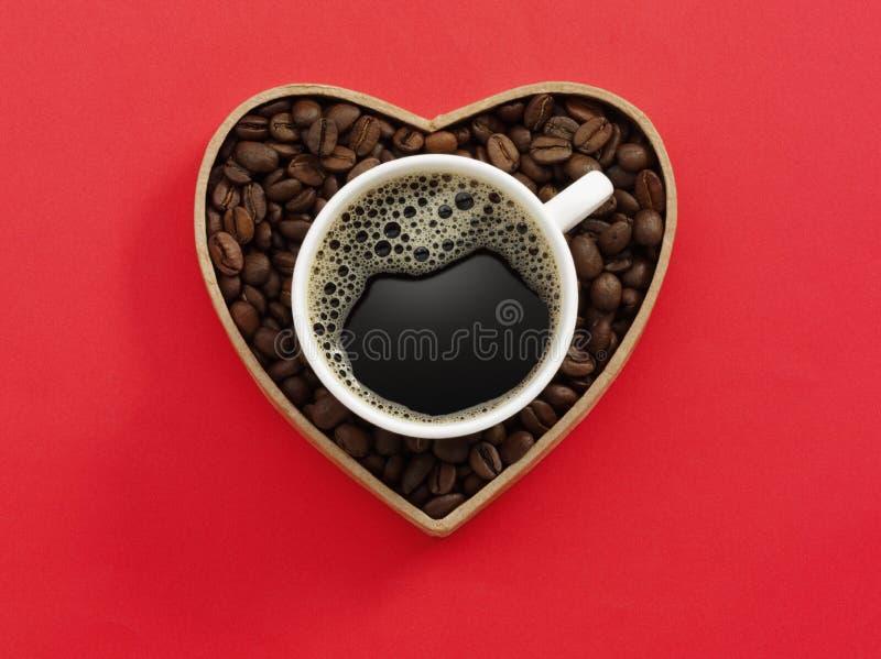 Copo de café do amor imagem de stock