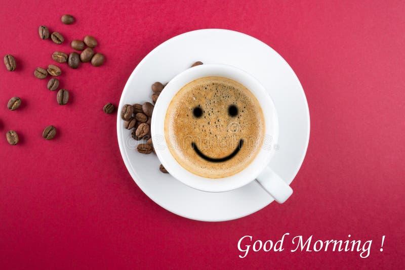 Copo de café do bom dia fotos de stock