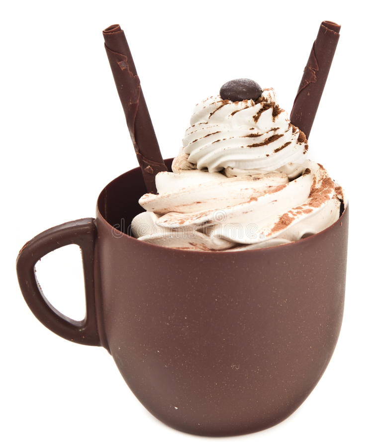 Copo de café do chocolate foto de stock