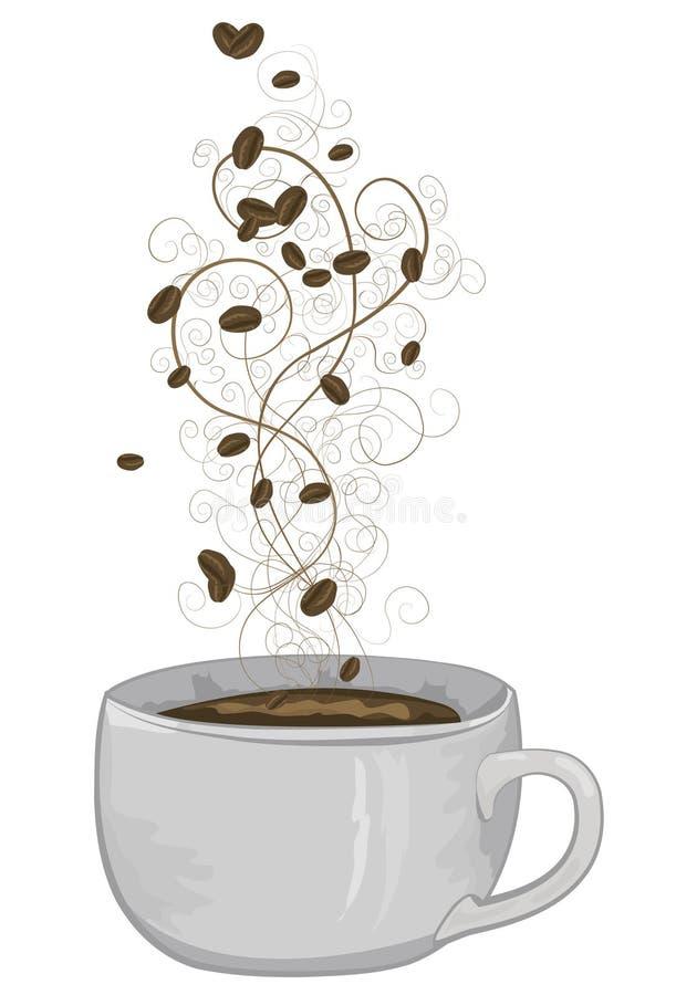 Copo de café ilustrado ilustração do vetor