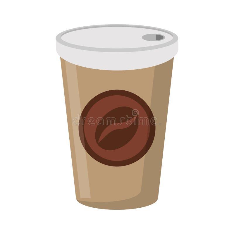 Copo de café a ir beber ilustração stock