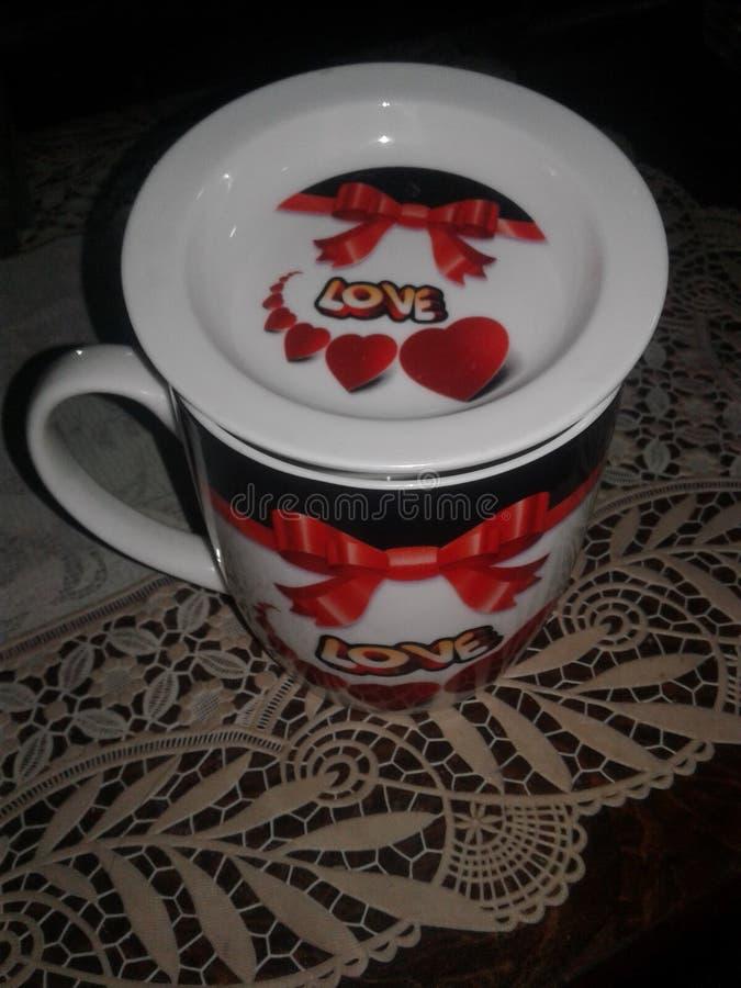 Copo de café loving imagem de stock royalty free