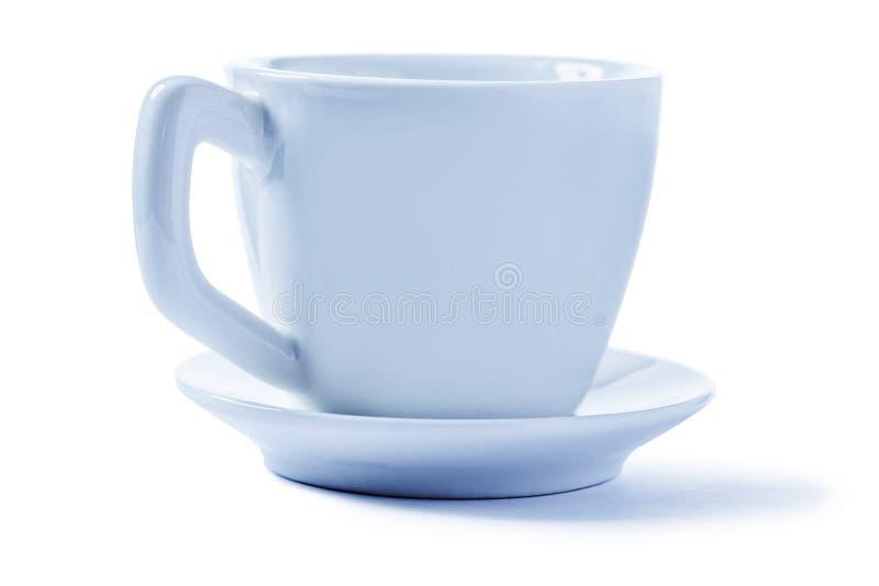 Copo de café muito pequeno isolado no branco imagem de stock royalty free