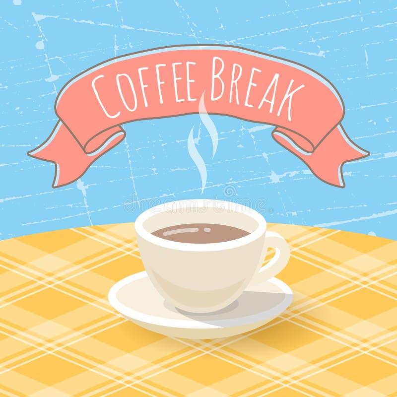 Copo de café na tabela ilustração stock