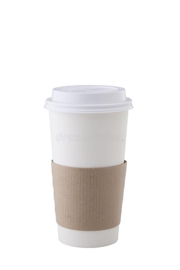 Copo de café no fundo branco imagens de stock