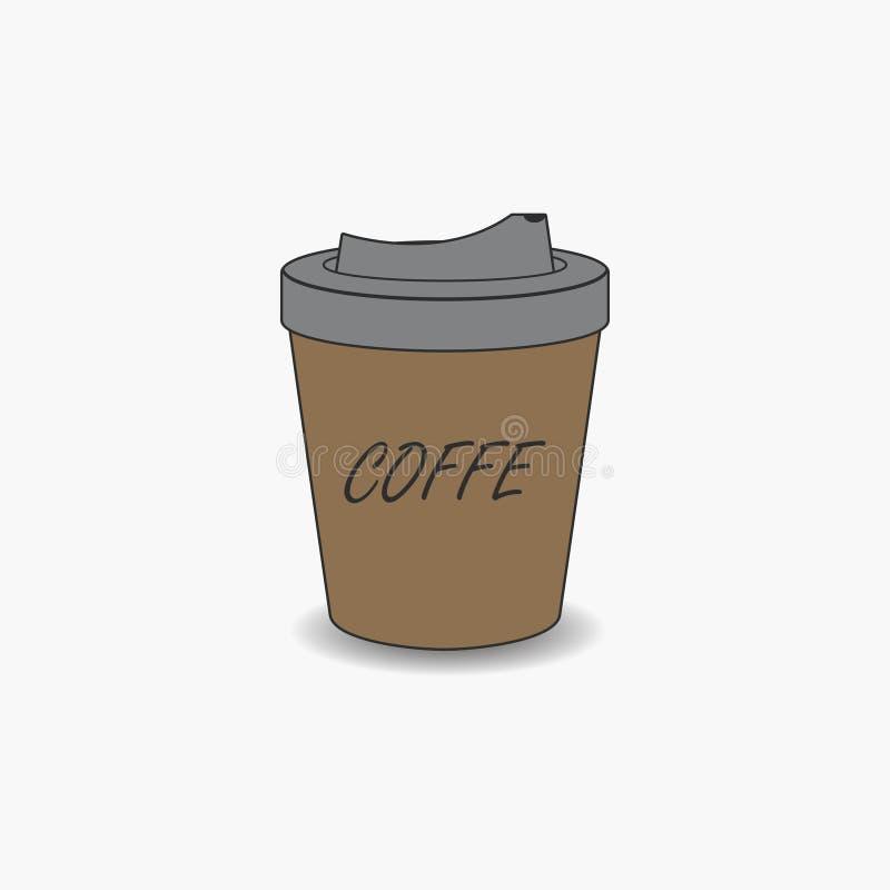 Copo de café de papel descartável Ilustração do vetor ilustração stock