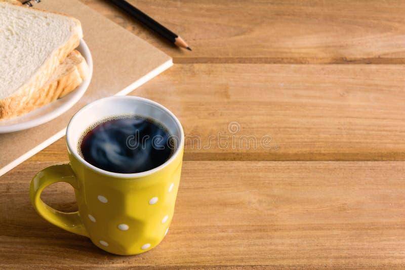 Copo de café preto do bom dia imagem de stock