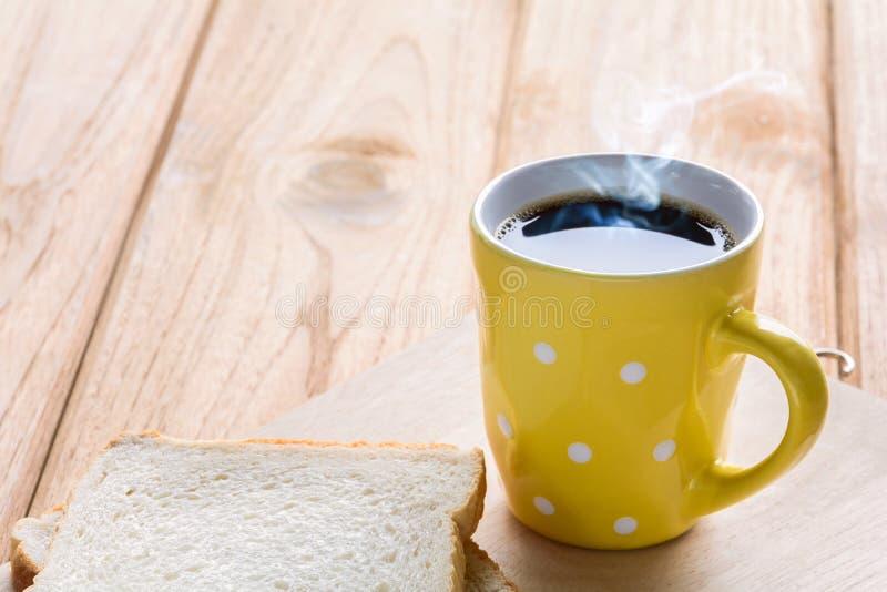 Copo de café preto do bom dia imagem de stock royalty free