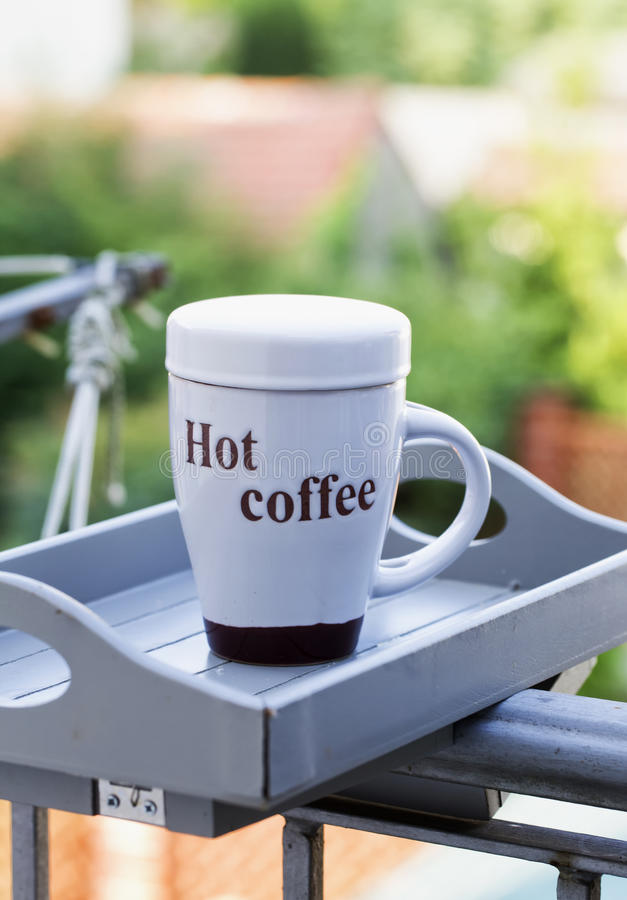 Copo de café quente foto de stock royalty free