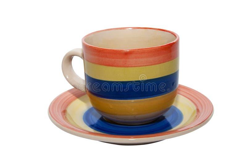 Copo de café vazio do chá foto de stock royalty free